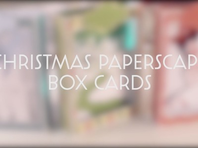 Christmas Paperscape Box Cards SVG Bundle - Assembly Tutorial