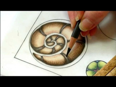 Color pencil tutorial, zentangle inspired art, color blending . Part two