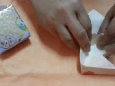 Do It yourself a  box or jewelry box from colour paper or greeting card