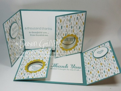 Double Gate Fold Double Peek a Boo card with Dawn