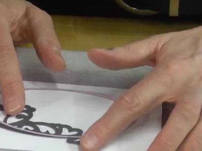 Esctasy Crafts - Decorative Oval Window Frame Card