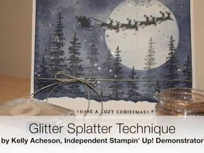 Glitter Splatter Technique