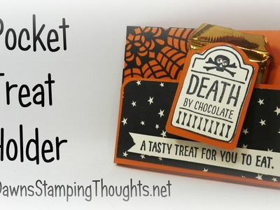 Halloween Pocket Treat holder with Dawn using Stampin'Up! Products