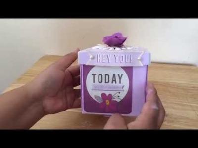 Happy birthday explosion box (process video)