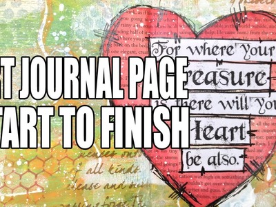 How to: Art Journal Page - Treasure