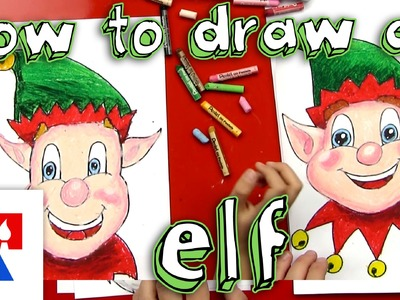 How To Draw A Christmas Elf Face