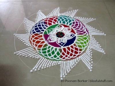 How to draw Sanskar bharati rangoli, colorful latest sanskar bharati rangoli design - Diwali Special