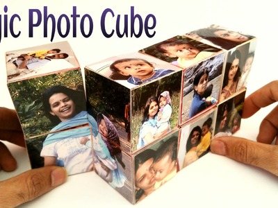 "How to make a ""Magic Photo Cube Album"" for Mother's Day - Paper Craft Tutorial"