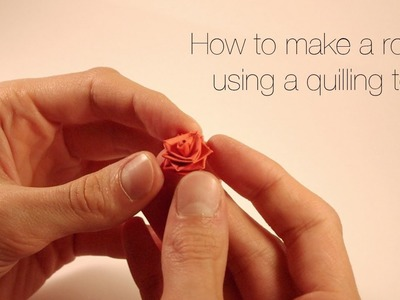 How to make a rose using a quilling tool.