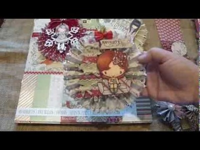 Large Christmas Rosette Ornament.Tutorial