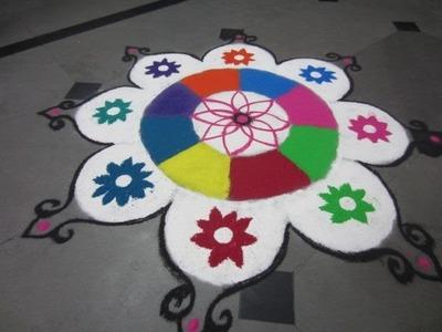 New flower rangoli design-25