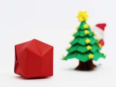 Origami Santa Claus Bag (traditional Waterbomb)