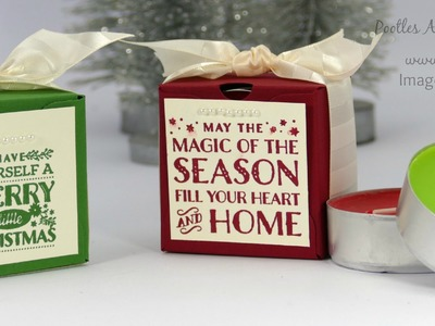 Pootles Advent Countdown #17 Envelope Punch Board Double Jumbo Tea Light Box Tutorial