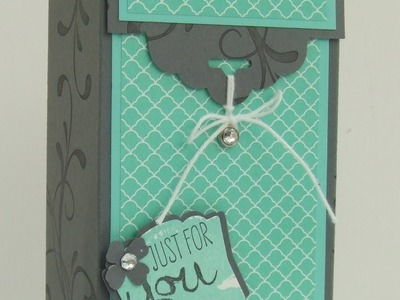 Scallop Tag Topper Gift Box by Teri Pocock - Stampin' Up! UK Independent Demonstrator