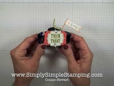 Simply Simple FLASH CARDS 2.0 - Halloween Candy Bar Holder by Connie Stewart