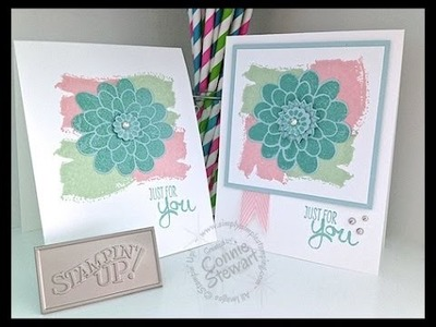 Simply Simple NOW or WOW - Just for You Blooming Card by Connie Stewart