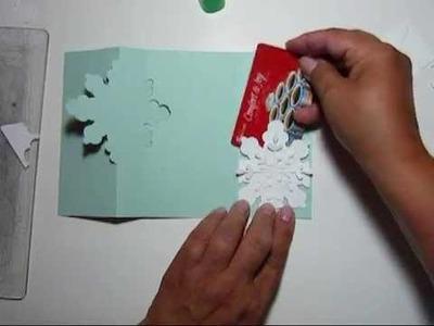 Snow Flake Flip Card
