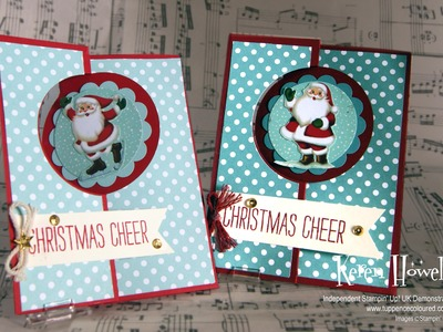 Stampin' Up! Christmas Hidden Flap swing card