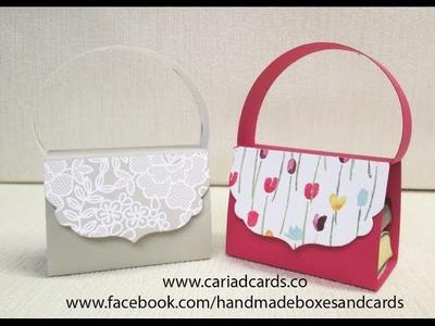 Stampin Up handbag to hold two chocolates