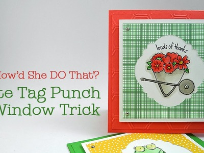 Stampin' Up! Note Tag Punch Trick w.Dawn O