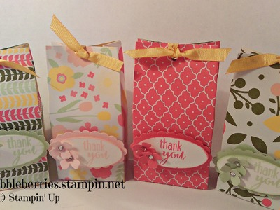 Stampin' Up! - Petite Box Bag - All Abloom DSP