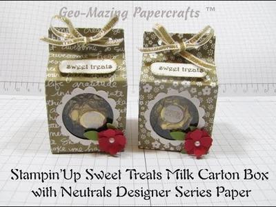 Stampin'Up Sweet Treats Milk Carton Box