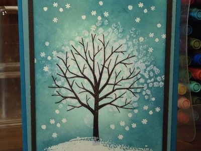 Stampin' Up! Video Tutorial  Sheltering Tree Emboss Resist
