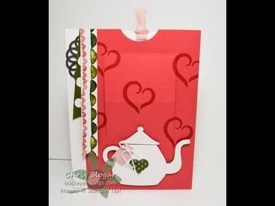 Teapot Pop-up Slider Card