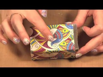 Turn Colouring Pages into Boxes and Bags