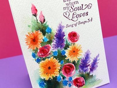 Watercolor Flower Series #11: Paint a Brusho Garden