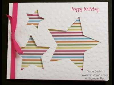 A Birthday Greeting Card with the Star Framelits