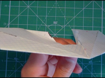 Art Deco Wing paper airplane tutorial+demostration