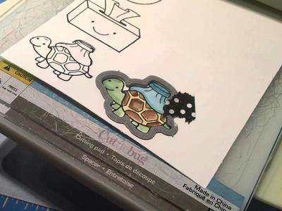 Coloring with Distress inks - Lawn Fawn's On the Mend