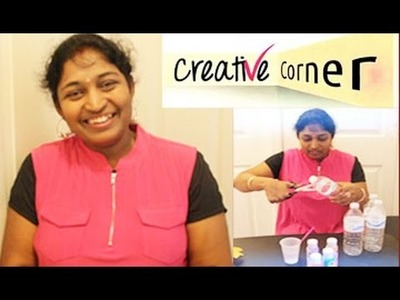 Creative Corner || How to Make Colorful Flowers with Water Bottles