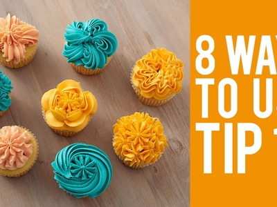 Decorate Cupcakes with Tip 1G – 8 Ways!