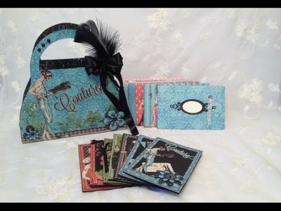 G45 Couture purse box with cards -Blog tutorial