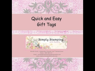 Gift Tags using the Envelope Punch Board