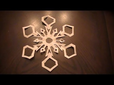 How to Make Paper Snowflakes with six sides easy tutorial