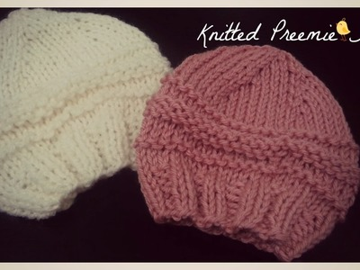 Knitted Preemie Hat