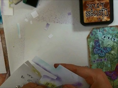 Mixed Media Butterfly Tag