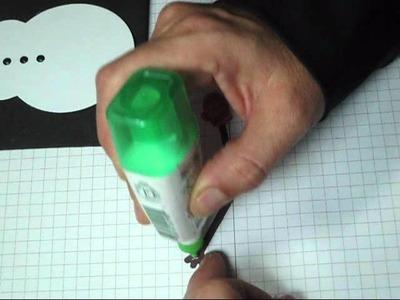 Snowman hot chocolate slider PTI Papertrey Ink ribbon pull card
