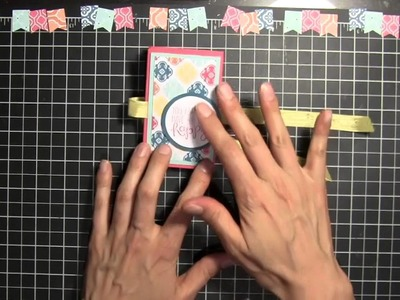 Stampin' Up! Fun Fold Out Birthday Card