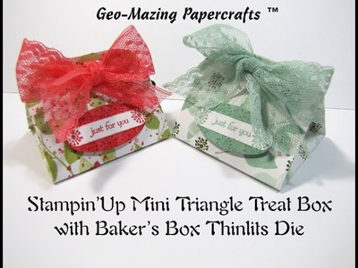 Stampin'Up Mini Triangle Treat Box with Baker's Box Thinlits