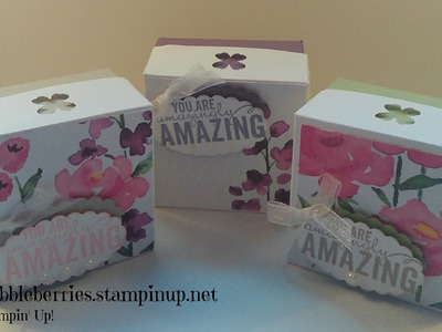 Stampin' Up! Painted Blooms Gift Box