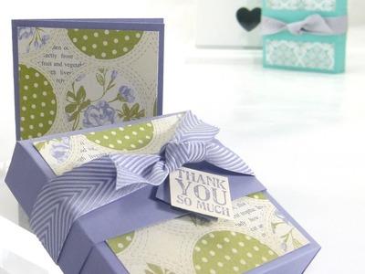 Stampin Up UK ENVELOPE PUNCH BOARD WEEK Soap Gift Box