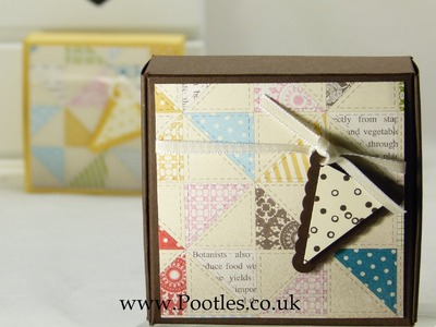 Stampin Up UK Mini Pizza Gift Treat Soap Box