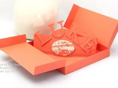Stampin Up UK Nintendo DS Game Gift Box Tutorial