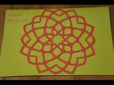 Step by step tutorial - How to make a paper snowflake