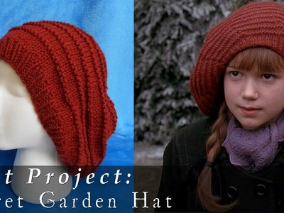 The Secret Garden Inspired Hat { Knit }