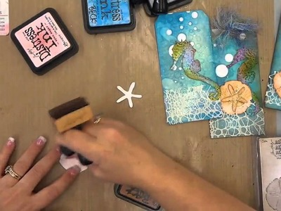 Tim Holtz Sand and Sea Confetti Make n Take Tag 7.2.14
